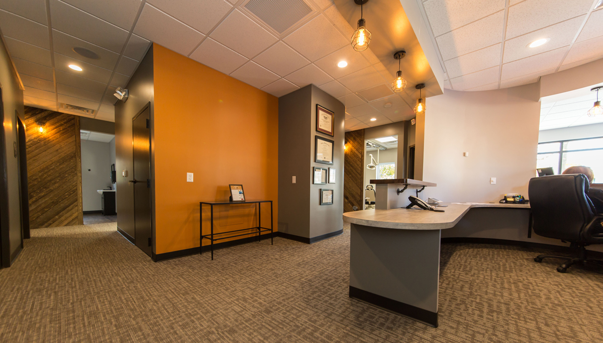 dental office reception. Hamilton Dental Designs Reception Area Office